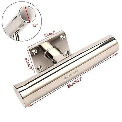 Wall Mounted Stainless Tournament Style Single Rod Holder - 90 Degree