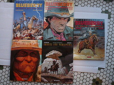Lot de 5 Albums Blueberry n°28, 30, 34, 36 et 37en EO. 1990/2000