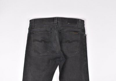 fc2e33ae9144c NUDIE JEANS TUBE Tom Org Painted Black Men Stretch Jeans Size 31 32 ...
