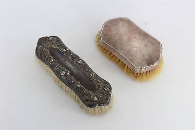 Pair of vintage / antique hallmarked .925 sterling silver BRUSHES 295g