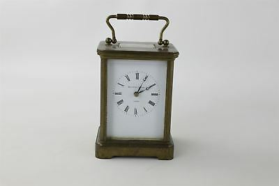 Fantastic Vintage Heavy BRASS carriage Clock WORKING -1718g