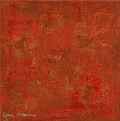 Fame and Reputation,Feng shui abstract print, fire, red, FREE SHIPPING