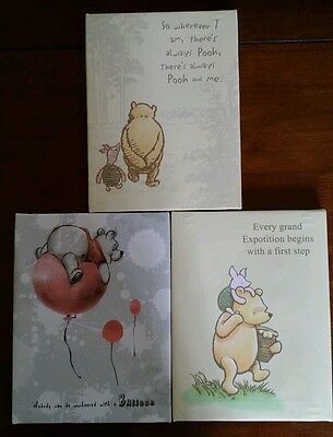 3 Artissimo Disney Winnie the Pooh Piglet Small Canvas Paintings Wall Art Decor