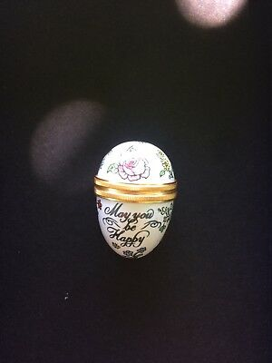 Halcyon Days Enamel Egg May You Be Happy