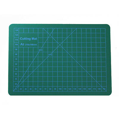 Cutting Mat with Printed Measuring Grid Lines & Angles A5