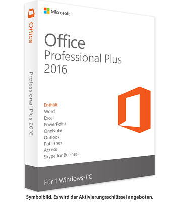 Microsoft Office 2016 Professional Plus ✔ KEY BLITZVERSAND ✔ Vollversion ✔ NEU ✔