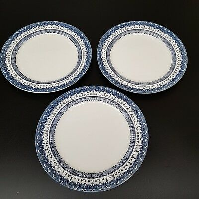 Three Vintage CETEM WARE MALING Dinner Plates - DUCHESS Pattern 1930's+