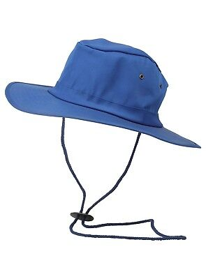 Mens Wide Brim Sun Hat One Size Chin Strap New Unisex Summer Beach Holiday Vents