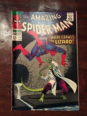 Amazing Spider-Man #44 2nd Lizard Marvel Silver Age Comic