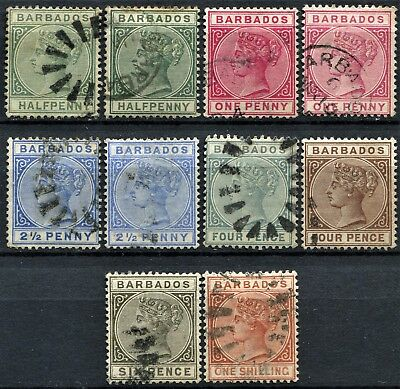 Barbados 1882 issue, used part set between, SG 89 & 102, Cat £85