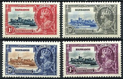 Barbados 1935 Jubilee issue, SG 241 - 244, Mint Hinged, Cat £30