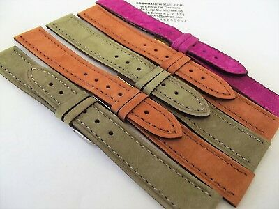 cinturini nabuk pelle scamosciata vellutata very good made in italy watch strap