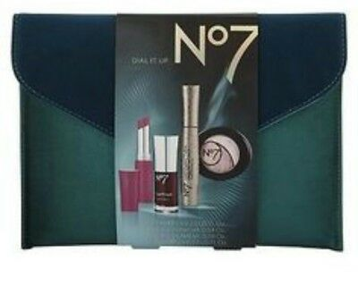 RS8# No7 Boots Dial It Up Mascara Eye Shadow Nail Varnish Lip Balm Evening Bag