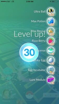 Account-Pokemon Go-LEVEL 30-FAST DELIVERY