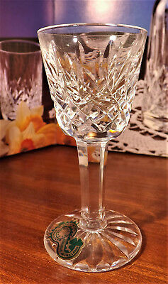WATERFORD CRYSTAL LISMORE LIQUEUR/CORDIAL GLASSES SIGNED 1st QUALITY  600/318