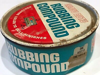 VINTAGE KMART RUBBING COMPOUND TIN CAN FROM 1960s NO UPC GOOD COLORS