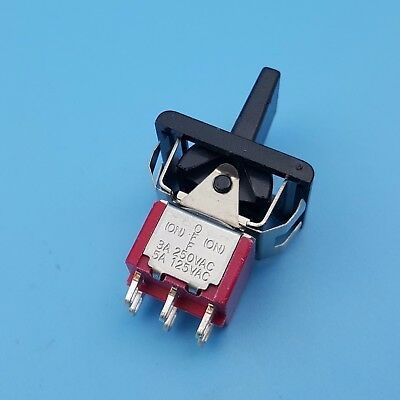 SH R8018A 6Pin Momentary (ON)-OFF-(ON) 3 Position DPDT Mini Paddle Toggle Switch