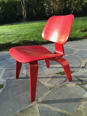 Eames Original red LCW early EVANS production