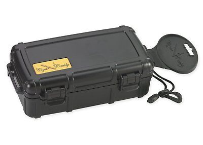 Cigar Caddy - 3240 10 Stick Cigar Travel Humidor - Black