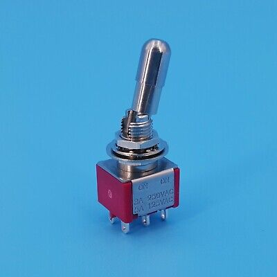 SH T8011-LKB Locking Lever 6Pin ON-ON Maintained 2Position Mini Toggle Switch