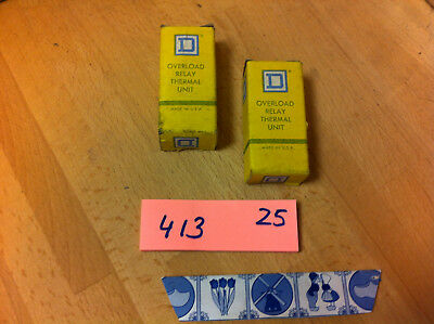 2 pcs NEW Square D Overload Relay Thermal Unit B 6.90