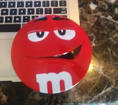 M&m Red Empty Candy 3D Tin Box Used  Free Shipping