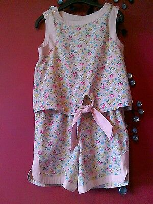 Next girls pink all in one shorts playsuit summer sun age 5 holiday festival