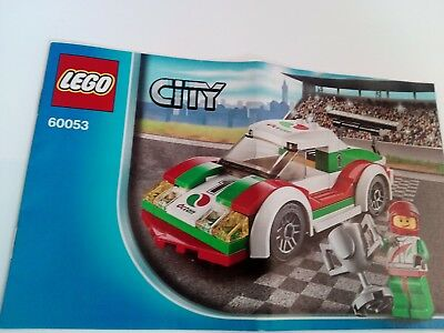 Lego City 60053 Race Car 100 Complete Set With Instructions No Box