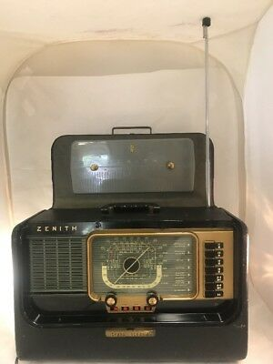 VINTAGE ZENITH TRANS-OCEANIC Multi-Band Portable Radio Broadcast Shortwave  Bands
