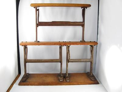 Antique General Store Butcher Triple Wrapping Paper Roll Dispenser Cutter