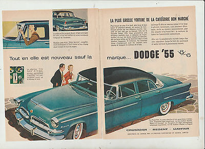 12 ad DODGE PLYMOUTH  1955 FRENCH  CANADIAN