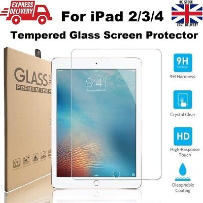 Anti Scratch 9H Hardness Tempered Glass Screen Protector for iPad 2/3/4 - 9.7 in