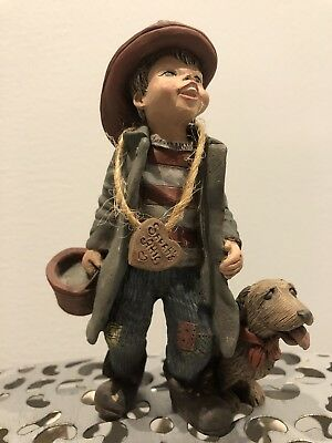 Rare Sarah's Attic Fireman Bud Limited Edition Figurine With Dog