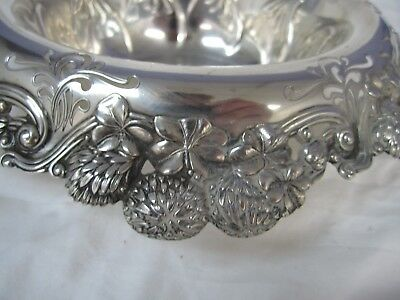 "Antique Tiffany & Co. Sterling Silver Clover Edged Bowl Appr. 10 x 3"" Deep"