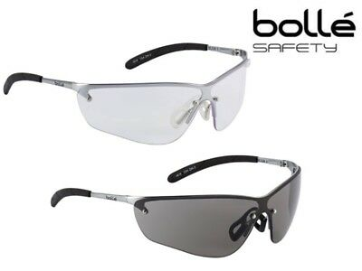 Bolle Silium Safety Spectacles Glasses (Clear or Smoked lens) ANTI SCRATCH & FOG
