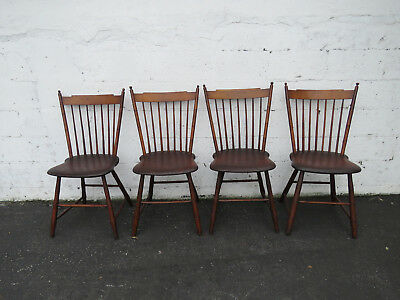 Early 1900s Set of Four Dining Room Chairs 9025