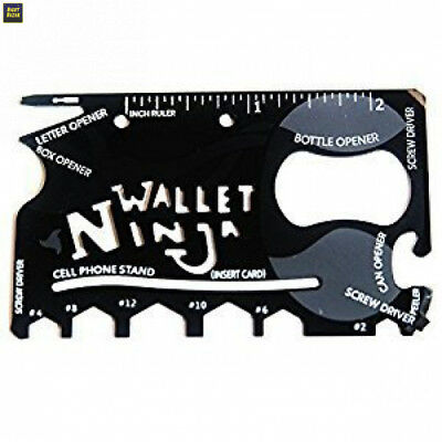 Wallet Ninja - 18 in 1 Novelty Tool, Multi Purpose Credit Card Size Pocket...