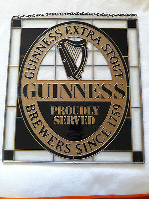 Guinness Stained Glass Beer Mirror