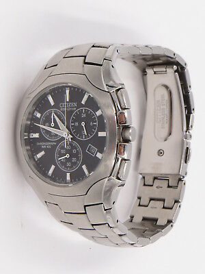 21720b67f Citizen Eco-Drive H500-S063418 Japan Movement WR100 Chronograph Day Date  Watch