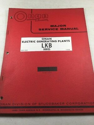 Onan LKB Series Electric Generating Plants Service Manual