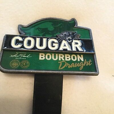 COUGAR BOURBON DRAUGHT METAL BADGE Great Condition