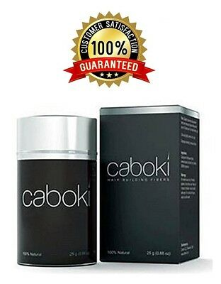 Caboki Hair Building Fibers 25g Black, Dk Brown, Md Brown. Fast shipping! Sealed