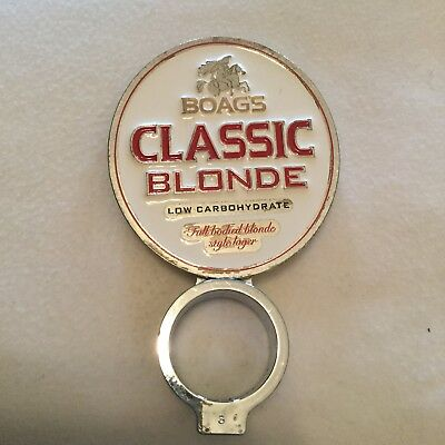 BOAG'S CLASSIC BLONDE  Metal beer tap  top in good used condition