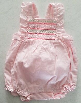 Janie and Jack Baby Girl SMOCKED RUFFLE 1-PIECE 0-3 Mos $42.00 CURRENT ITEM NWT