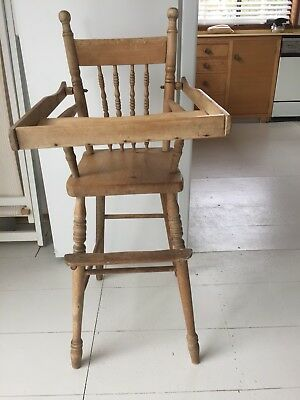 Old Vintage Antique High Chair