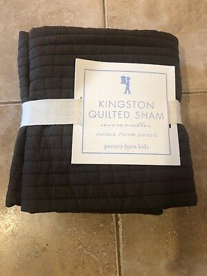 Pottery Barn Kids Bedding Kingston Quilted Sham Brown Standard Free Shipping