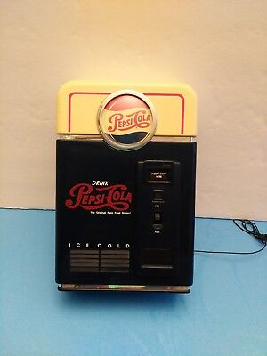 1998 Pepsi-Cola AM/FM Radio as Replica of Vintage Pepsi Vending Machine
