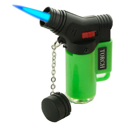 Jet Torch Lighter Rubber Finish Adjustable Windproof Butane Refillable J9474NE