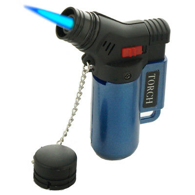 Jet Torch Lighter Rubber Finish Adjustable Windproof Butane Refillable J9474MT