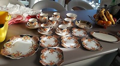 Vintage Bell & J&g Meakin 22 Piece Bone China Tea Set.